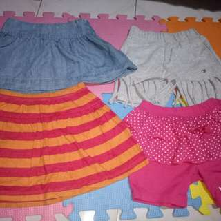 For take all!Take Skirt & Shorts(Size 3-4y/o)