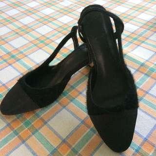Berrybenka feather black heels