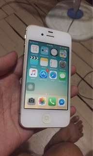 "FOR SALE IPHONE 4s 16gig ""R-SIM"" with Rsim chip and charger ""GLOBE SIM ONLY"""