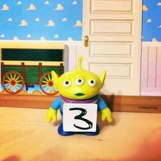 玩具總動員 絕版 數字 稀有 三號 三號三眼怪 三眼怪 扭蛋 轉蛋 公仔 胡迪 巴斯 抱抱龍 杯緣子
