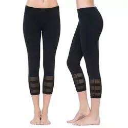 New black yoga mesh pants sizes S,M&L
