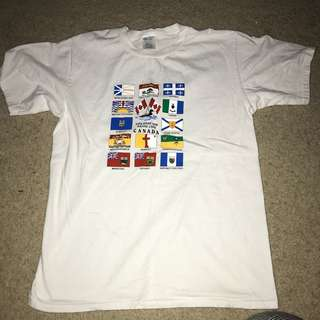 CANADIAN WHITE T SHIRT