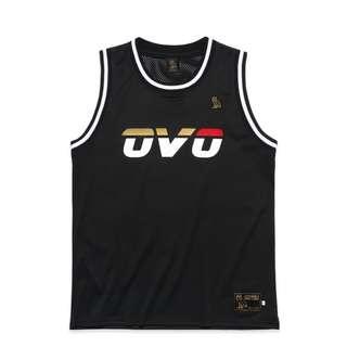 OVO October's Very Own Runner Logo Basketball Jersey Black (Small/Medium)