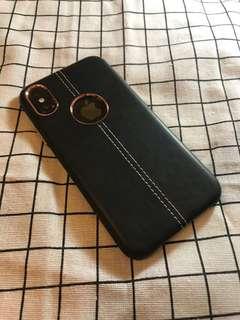 🚚 現貨 iPhone X 質感手工縫線皮革保護殼/保護套