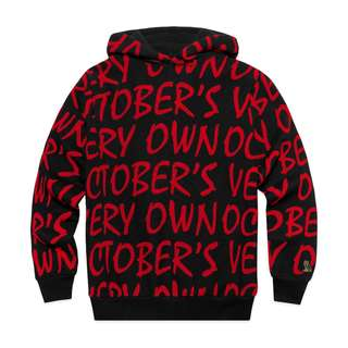 OVO October's Very Own All Over Print Hoody Red (Medium/Small)
