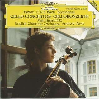 Cello Concertos Matt Hainmovitz DG 429219-2