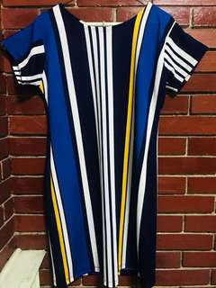 (New) Office Dress with Stripes Design