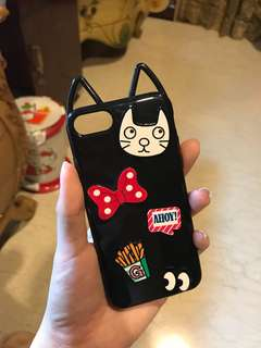 Black kitten casing (iphone 6 & 7)