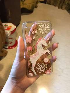 Unicorn gold glitter case (iphone 6)