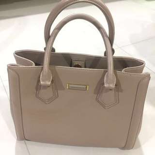 AUTHENTIC Charles & Keith Bag (Nude Color)