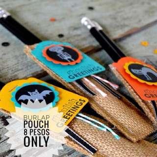 Pencil Pouches - Burlap