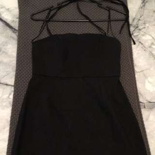 Black Halter Neck Dress