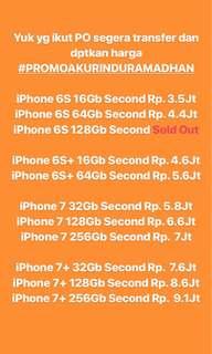 Harga Promo iPhone Second