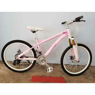 "Free Delivery! Crolan ♡Angel: 24"" Aluminum Lady MTB / Mountain Bike : 24 Speeds, front suspension, Disc Brakes *Brand New Bicycles"