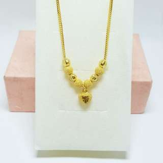 Choker Necklace Gold 916*Postage only