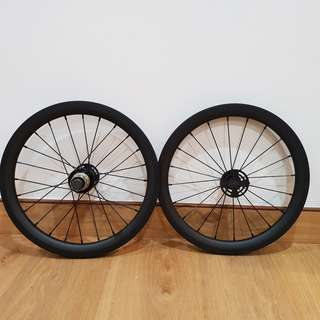 Custom-built Carbon 16inch 349 Wheelset