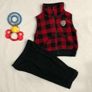 Carter's Fleece vest and pants set.