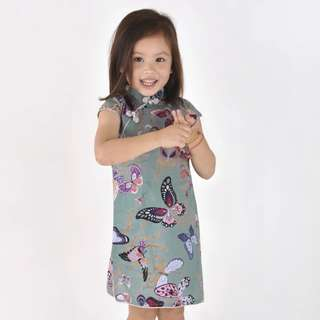 *IN STOCK* Qipao Butterfly Print on Turquoise by Chouchou-Chic (Choengsum)