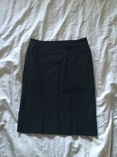 Black spandex pencil skirt