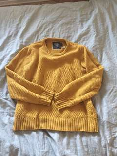 XL mustard knit sweater