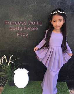 RAYA MUSLIMAH COLLECTION (KIDS) - PRINCESS DALILY - BAJU KURUNG / KEBAYA