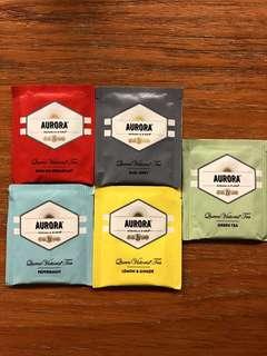 Aurora tea bag. 澳洲品牌各款口味茶包 ($20 5 包)