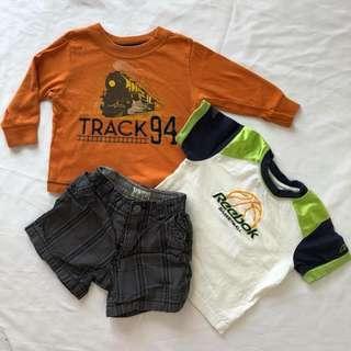 Baby boy short and shirt Mix n' Match
