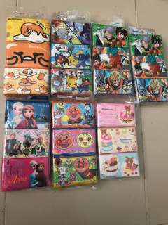 Tissue packs-Gudetama Pokemon Dragon ball Frozen Anpanman Rikkakuma