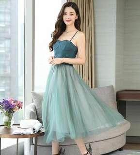 Dual Tone Cami Tutu Dress 099665