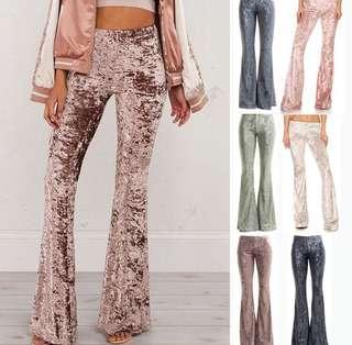 Velvet High Waist Pants (PO)