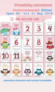 Baby Milestone Customize Card