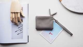 Double Zip Wallet - Gray