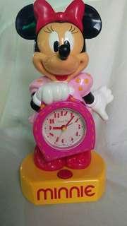 JAPAN Vintage Rare Talking Animated Disney Time Minnie Mouse Alarm Clock