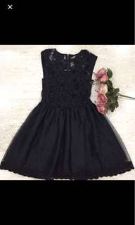 Black Chiffon Lace Dress