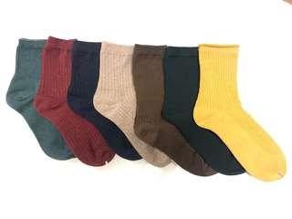 好穿搭素色韓襪