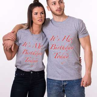 It's Her Birthday Couple Shirts