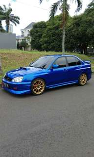 Mobil modified Subaru Impreza WRX