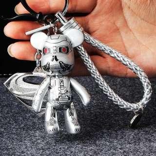 🚚 現貨❤️暴力熊編織鑰匙圈銀未來