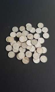 中华人民共和国贰分至鋁硬币50pcs