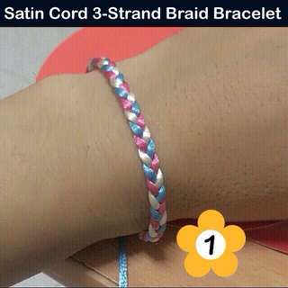 Satin Cord 3-Strand Braid Bracelet (paracord styled) [unisex group identity camp bff gifts handmade uncle.anthony uncle anthony uac 2bump]