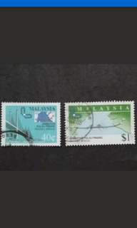 Malaysia 1985 Opening Of Penang Bridge Loose Set Short Of 20c - 2v Used Stamps