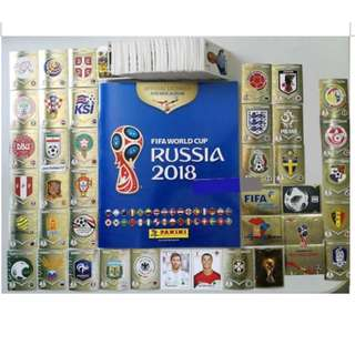 Panini FIFA WORLD CUP RUSSIA 2018 complete set 670 stickers