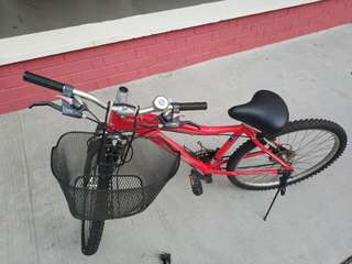bikes with front carrier, inflator and lock