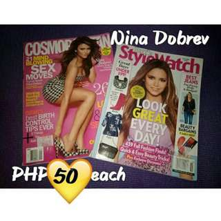 Nina Dobrev Cosmopolitan and People Style Watch Magazine (US)
