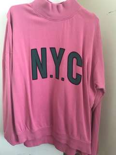 Pink high neck jumper