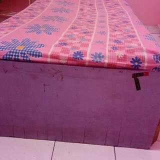 1 Set Tempat Tidur + Lemari Rak + Meja Belajar