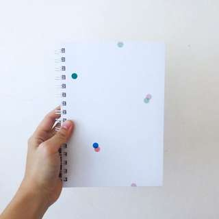 BNIP Collision 8 A5 Hardcover Ring Bind Lined Notebook Journal