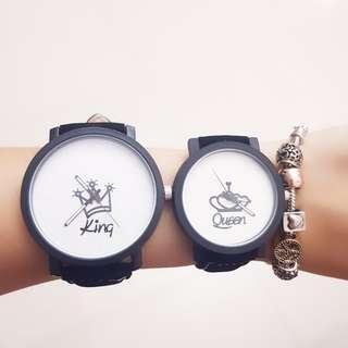 King Queen Couple Watch