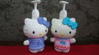 Hello Kitty Shower Gel/ Shampoo/ Handwash Dispenser Set