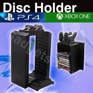 Disc holder with vertical stand ps4 / slim / pro / xbox